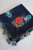画像4: オデミシュ地区 イーネオヤのお花付スカーフ (4)