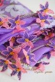 画像1: オデミシュ地区 イーネオヤのお花付スカーフ (1)