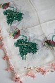 画像3: オデミシュ地区 レトロ イーネオヤのお花付スカーフ