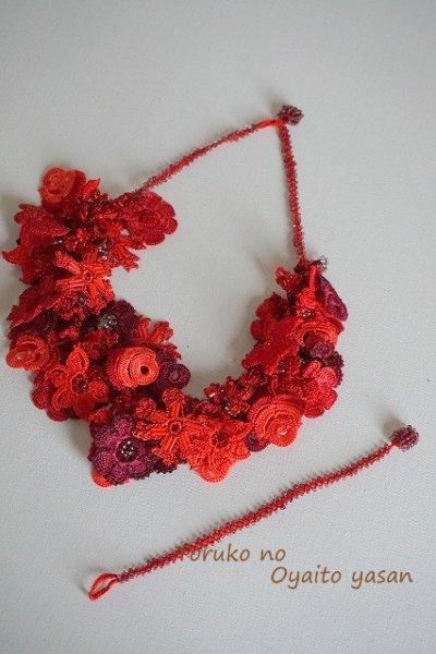 画像2: FLOWER GARDEN ネックレス&ブレスレットセット